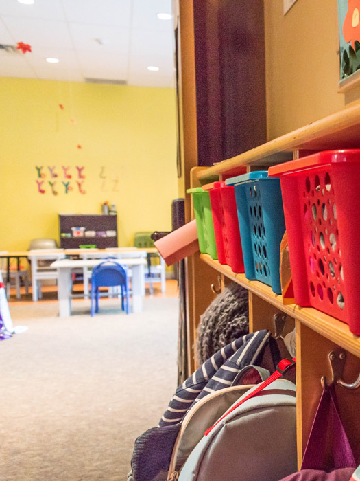 Sidekicks Childcare Centre colourful bins